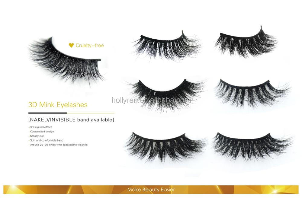 Top Rated Private Label 100% Hand Made 3D Silk Eyelash