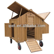 Cheap Mobile wooden hen house with nest boxes CC006