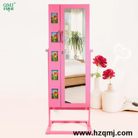 fashion furniture wooden jewelry case mirror cabinet