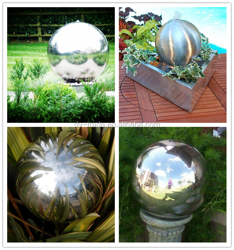 Large hollow stainless steel gazing ball chrome gazing ball for garden