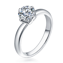 Best selling White Gold Engagement Diamond ring 925 silver valentine's finger ring