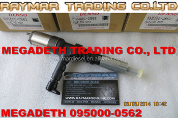 DENSO common rail injector 095000-0562 for KOMATSU 6218-11-3101, 6218113101 PC600-8