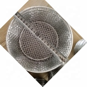 Food Grade 304 Stainless Steel Wire Mesh Round Basket