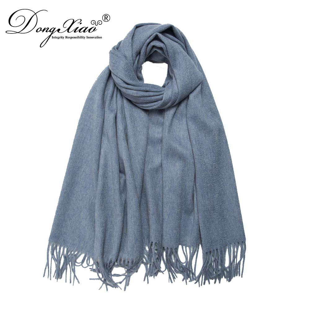 Classic Plain Best Selling Women Mir Blue Cheap Cashmere Infinity Knit Scarf