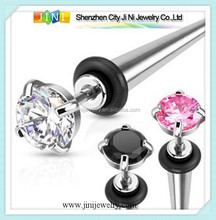 Acero inoxidable cheater fake piercing