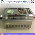500mm big pan R410A thailand fried ice cream rolling roll machine with 9 fruit buckets price