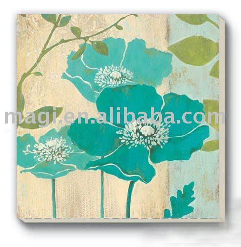 cheap custom Blue Flower Square Ceramic cork coaster