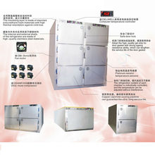 China BT-RMF2 Two bodies Medical Mortuary refrigerator Stainless Steel Mortuary Equipment