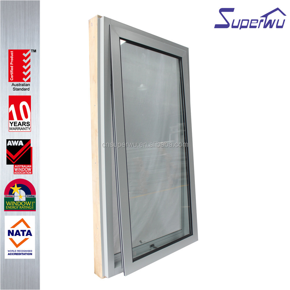 Superwu safety Australian as 2047 doors and windows of good price aluminium frame chain winder awning window with fly screen