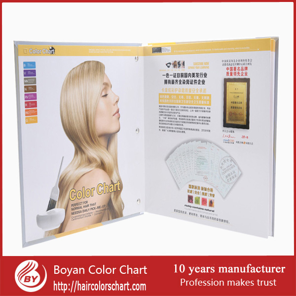 professional salon hair color swatch, color chart guide, hair color chart