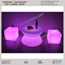 glass low tempered glass coffee table with led light (TP80 )