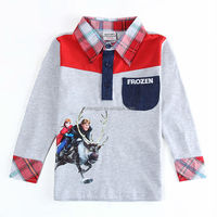 (A5502D) 2014 new model casual 100% cotton free boys shirt patterns polo shirts wholesale