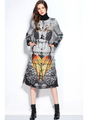 Fashion Europe Gothic Style Winter Down Coat Jacket For Ladies