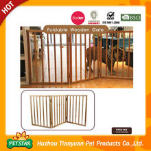 Indoor Use Wooden Retractable Dog Fence
