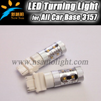 Speed Light High Power 12-28V DC Width Voltage 50W C REE Auto LED Lights 3157 360degree beam angle super bright led car light