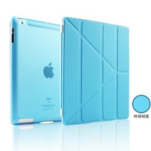Transformers Slim Magnetic Leather Stand Smart Cover Case for iPad 4