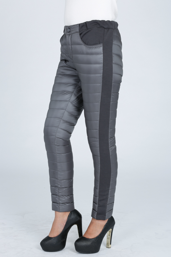 american market gray women down pants for winter