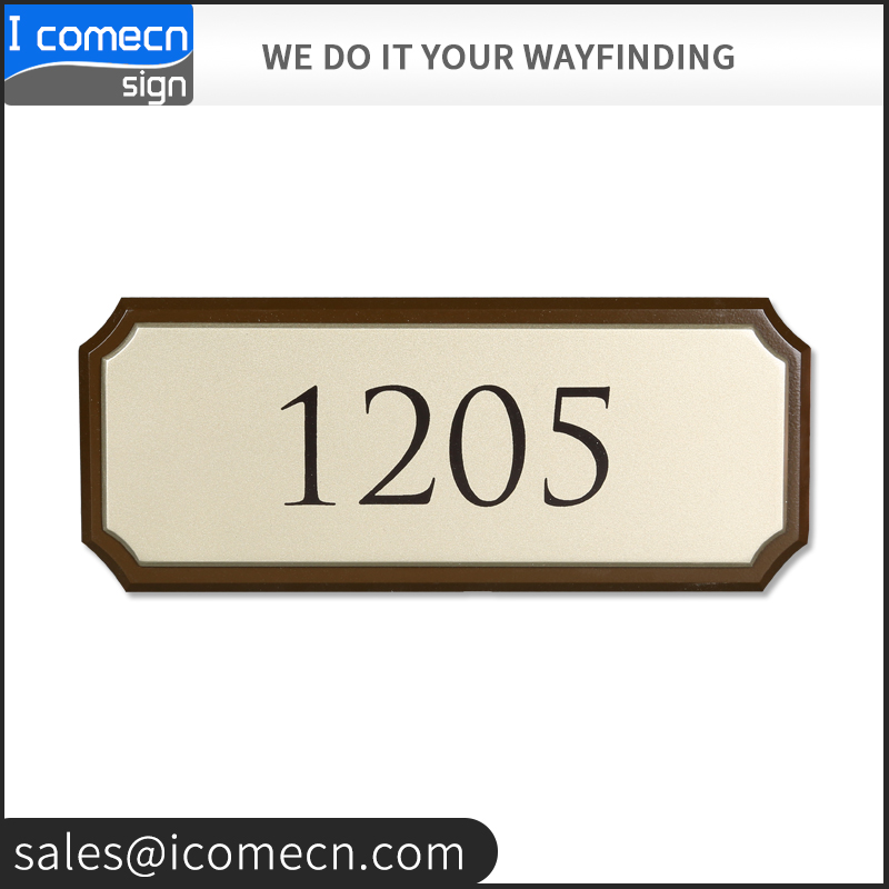 factory custom wholesale hotel door numbering metal sign