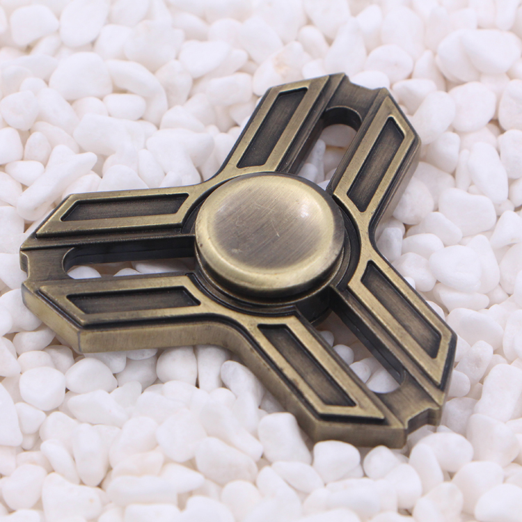 Sanke 2017 brass tri spinner with R188 ball bearing tangle fidget toy stress reduce