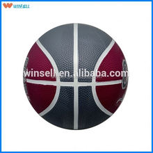 2015 newest league coloful natural rubber basketball