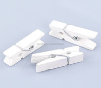 White Wood Clothespin Clips Note Pegs for Photo Paper Clothes