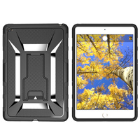 Newest Stylish heavy duty armor kickstand TPU+PC 2 in 1 table case For iPad mini 4 hard cover table case factory price