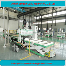 china made autoamtic tool change nesting loading and unloading wood cnc router for cabinet