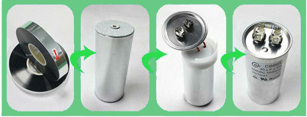 high quality oil type ac oval run capacitor with resistor