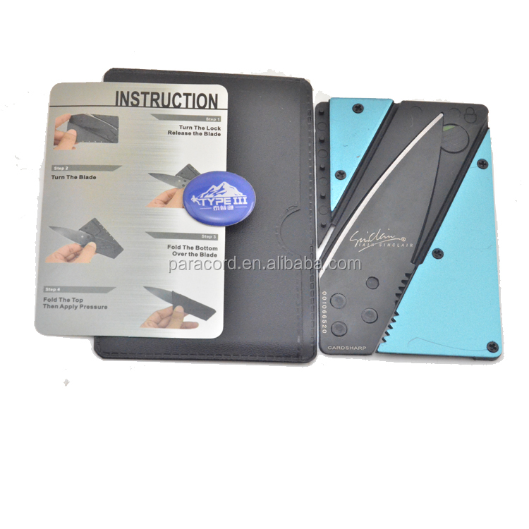 wholesale alibaba self defense credit card knife for your survival kit
