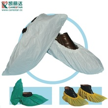 CPE disposable nonskid plastic shoe covers white