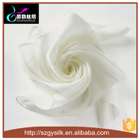 100% silk 8mm habotai white color silk scarves for painting