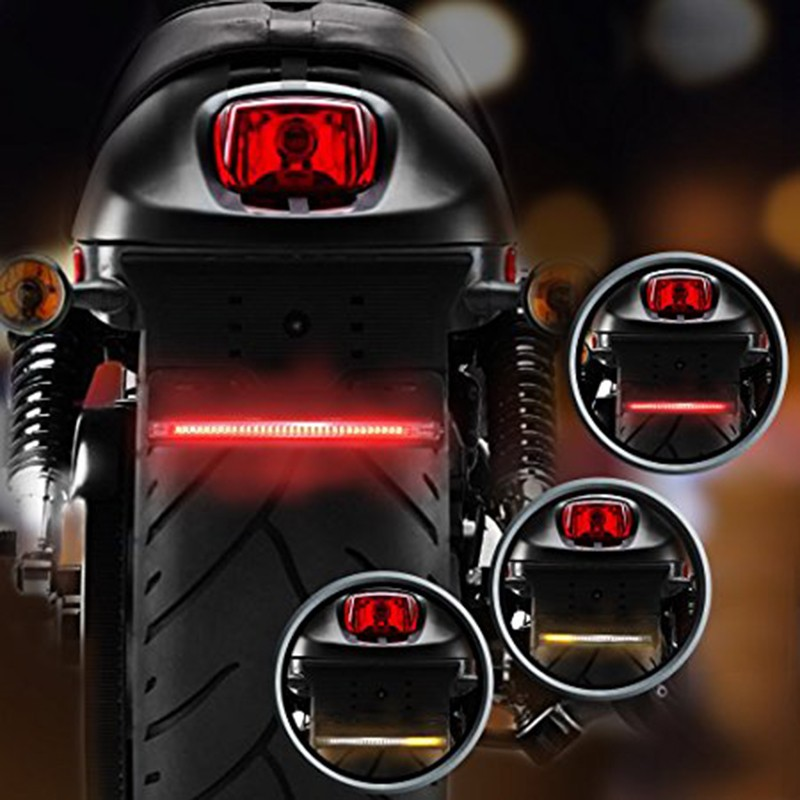 LED Motorcycle ATV Waterproof Tail Brake Stop Turn Signal Strip Light