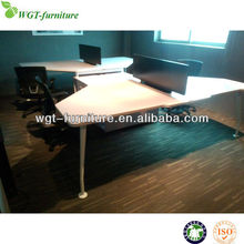 Hot Sell White Melamine Modern Office Staff Desk