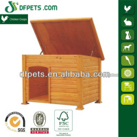 Unique Dog House Designs With Curtain DFD-025