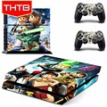 Cartoon printed for ps4 playstation 4 console vinyl skin sticker