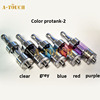 Colorful glass tank kangertech 100% Original protank 2 glass replacement kangertech glass tank