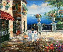 Greece Scenery painting on canvas by hand