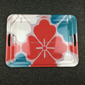 Large shallow plastic tray with handles