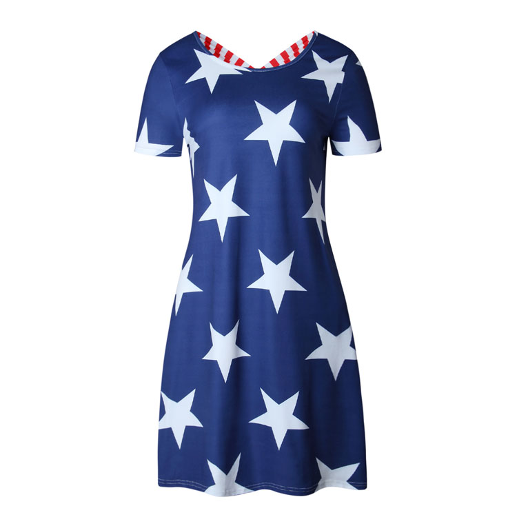 Fashion new model short casual dresses loose dress women latest party wear for girls digital printer