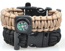 550 Paracord King Cobra Bracelet With Fire Rod / Whistle