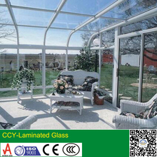 Laminated tempered glass/ Safe glass for wall and roof