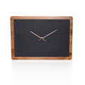 Rectangular Slate& Solid Wood Clock