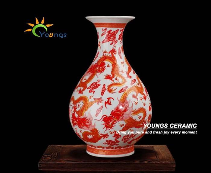 Detailhandel groothandel oranje traditionele chinese draak vaas huisdecoratie decoratie voor - Afbeelding van huisdecoratie ...