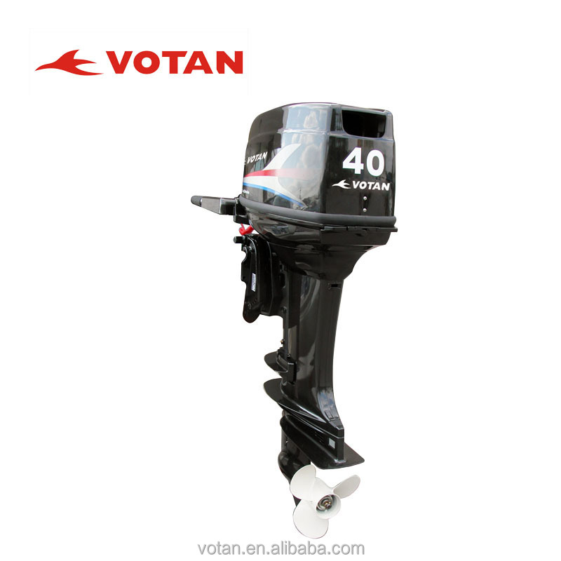 VOTAN 2-stroke 40HP Outboard Motor with Electric start and tiller control
