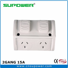 Australian 2 GANG 15A Double IP53 Outdoor Power Outlet