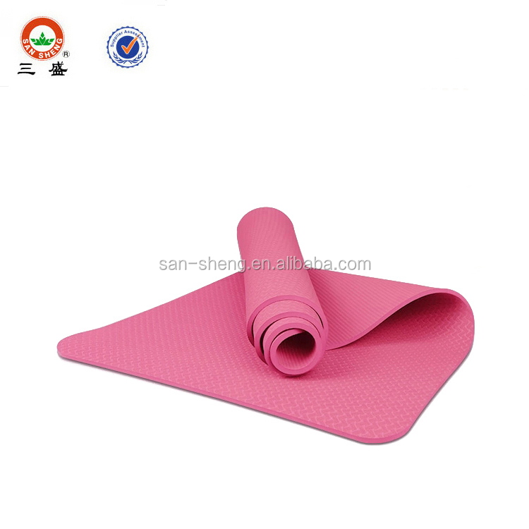 High resilient light weight Eco-friendly TPE yoga mat