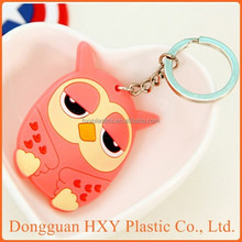 HXY Professional custom making PVC keychain with logo from Keychain making supplies