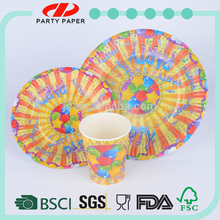 over 11 years experience hot new items printed party paper tableware