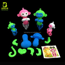Kids DIY finger monkey self assembly toys educational cartoon plastic toy