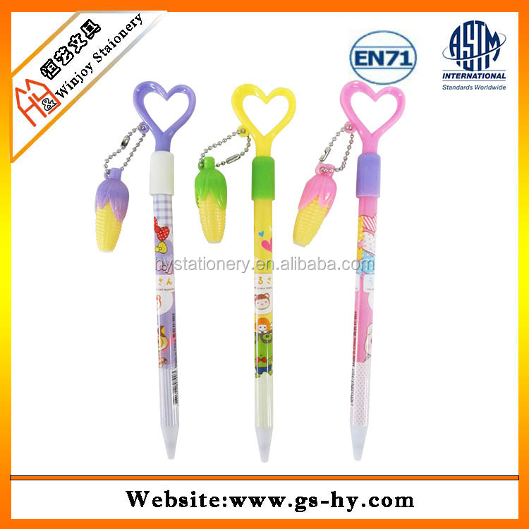 Korean cute design heart shape ball point pen